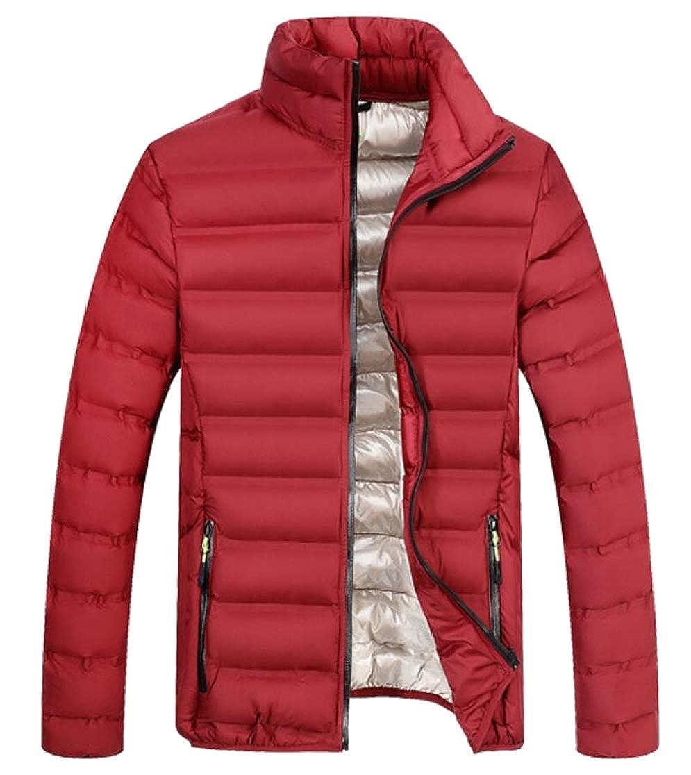 UNINUKOO Unko Mens Warm Zipper up Long Sleeve Padded Down Jackets