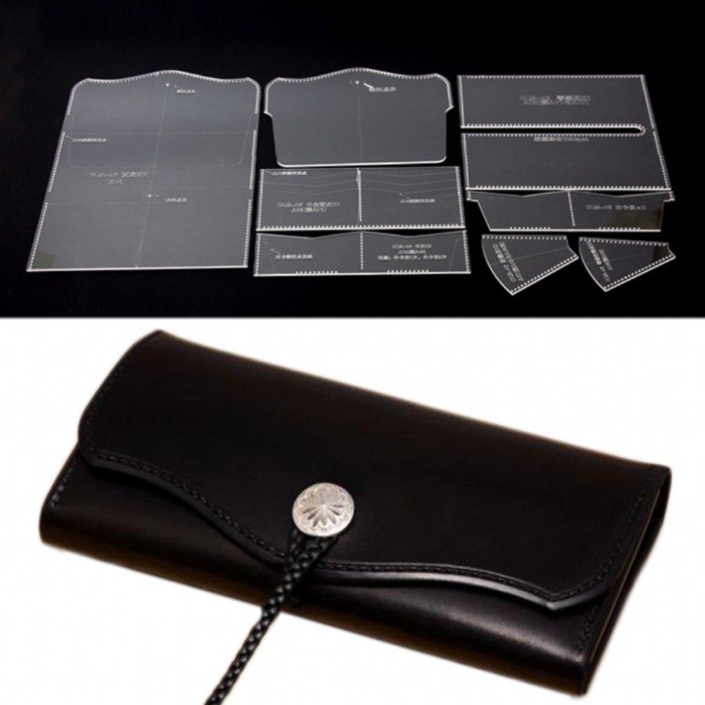 PANINA Acrilico trasparente multi tasca in pelle cucito modello lunga cerniera borsa in pelle modello