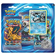 Pokemon TCG XY-Evolutions Three-Booster Blister with Black Kyurem Promo Card(80157)