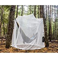 Ultra Large Mosquito Net and Insect Repellent by MEKKAPRO | Large Two Openings Netting Curtains | Prevent Malaria Zika West Nile Viruses | Camping, Bedding, Patio | Carrying Pouch and Hanging Kit