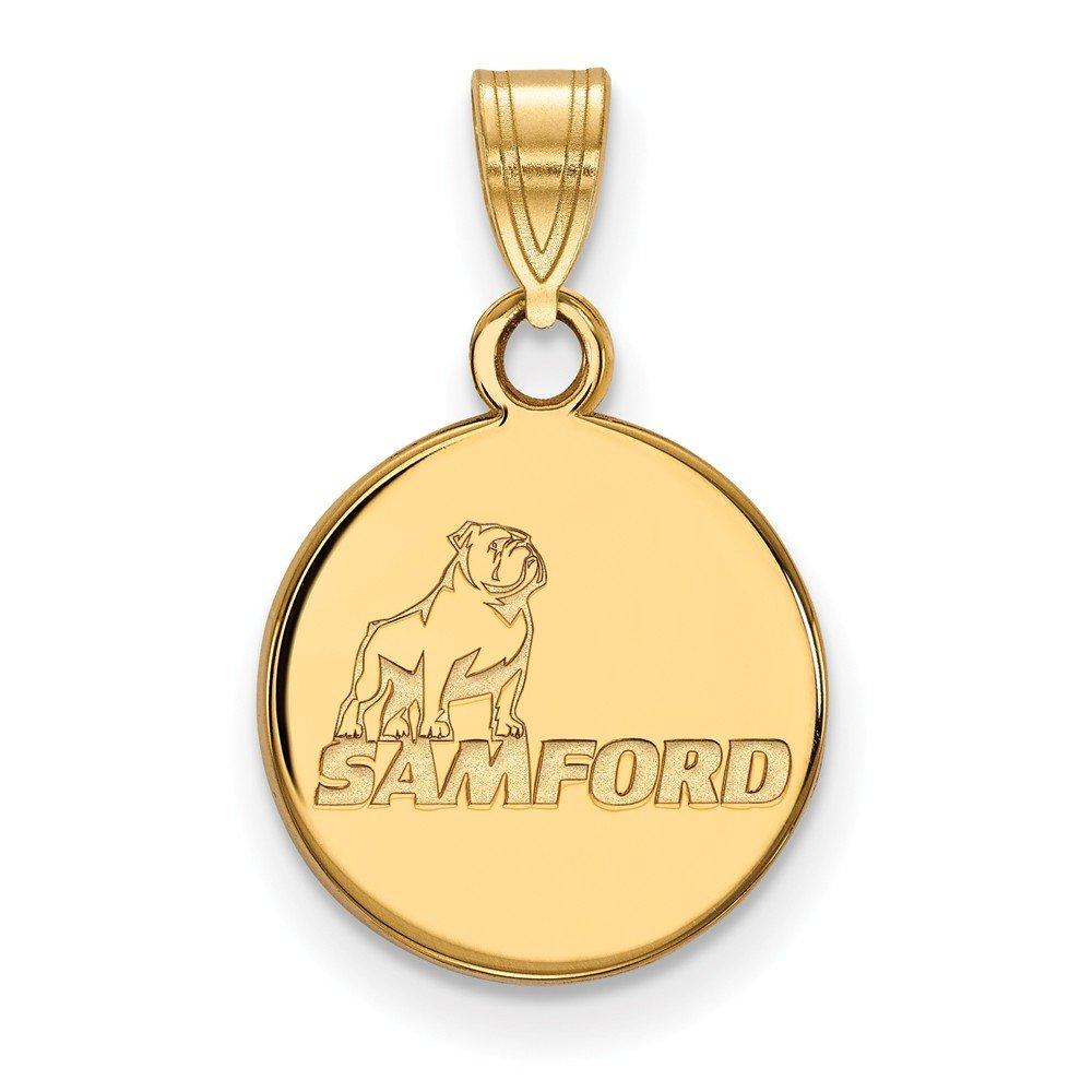 Gold-Plated Sterling Silver Samford University Small Pendant by LogoArt GP001SMF