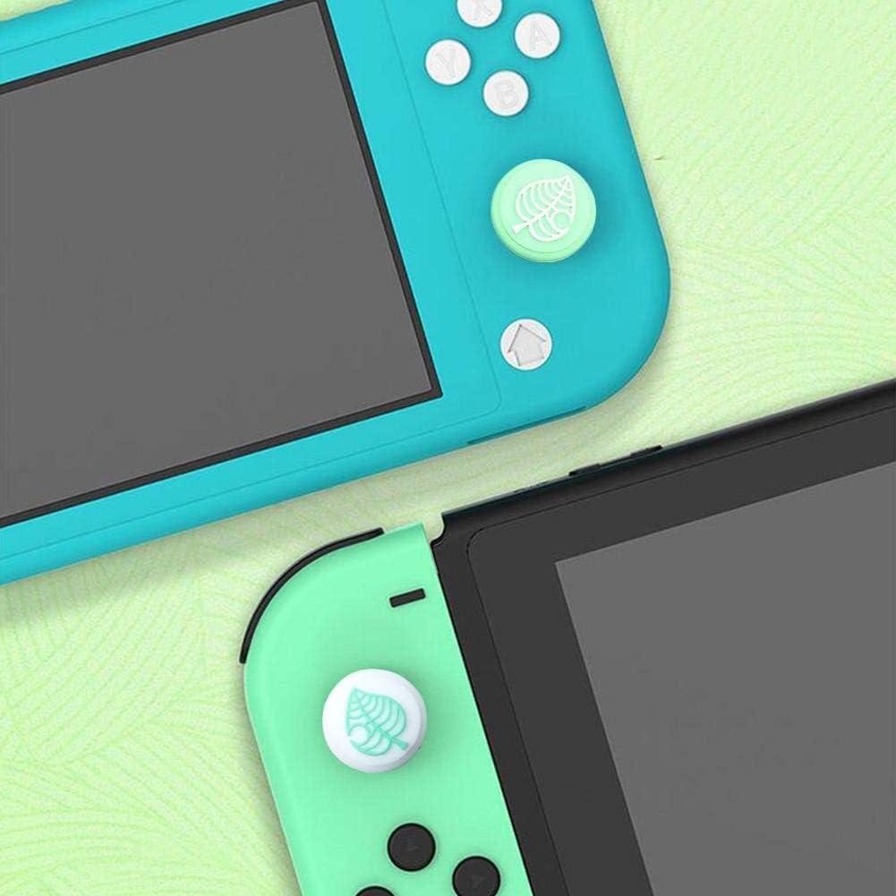 Animal Crossing Casquettes Joystick Capuchon en Silicone pour Le Pouce Housse De Remplacement pour Joystick pour Contr/ôleur Switch//Lite Fleurs + feuilles 4 Pi/èces Protection Manette Switch