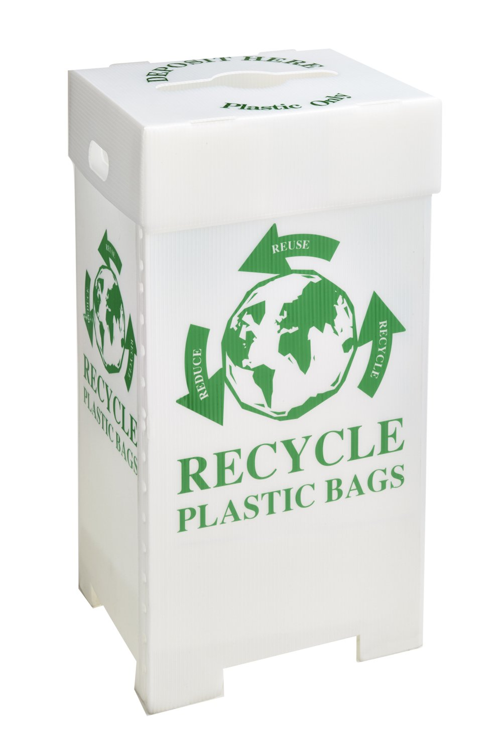 Recycling Container (Plastic Bags) 44 Gallon, 20.25''L x 17''W x 38''H (Pack of 3) DVP#225432