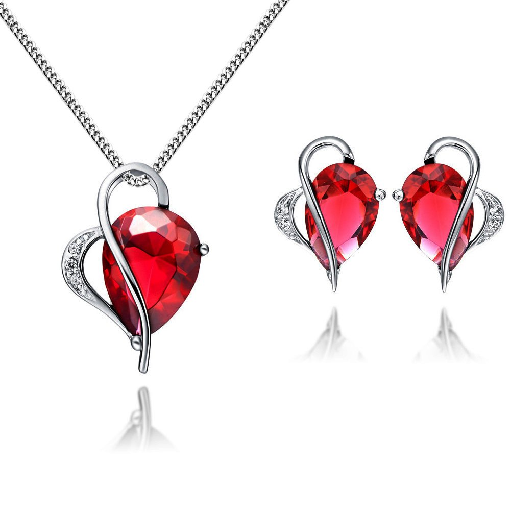 and by jewelry products red melissa manning rose ruby garnet necklace garn joy