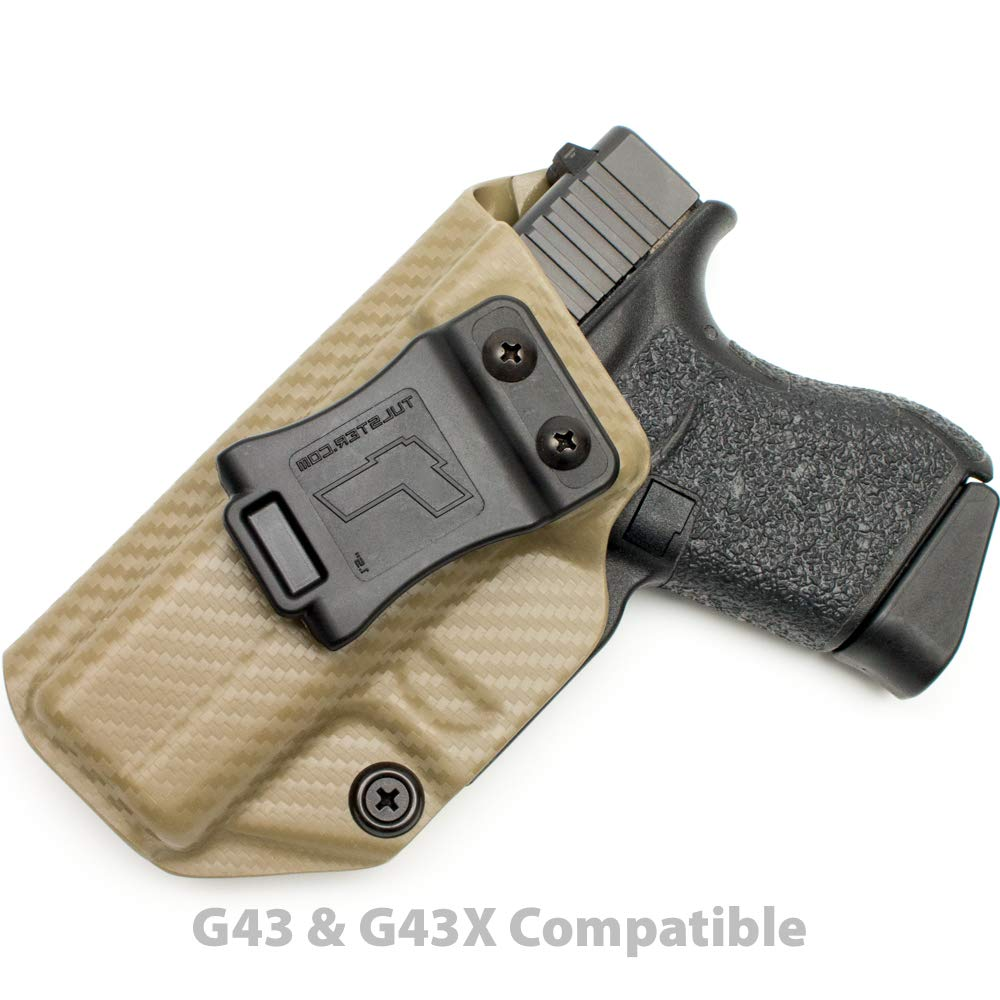 Tulster Glock 43/43X Holster IWB Profile Holster (Flat Dark Earth Carbon Fiber - Left Hand) by Tulster (Image #1)