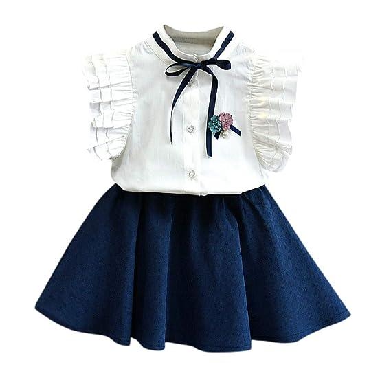 165ad3fa6 2019 Ropa Niña Verano 2 a 3 4 5 6 7 años | Princesa Blusa sin Manga ...