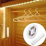 30LED 1M tira luz cuerda,Luz Armario Luz LED Nocturna con Sensor de Movimiento para Pasillo Baño Armario Cocina(funciona con 4 pilas AAA, No Incluidas)