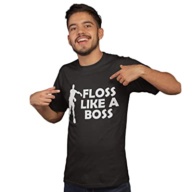 cb5ebe77a Gifts for Gamers - Floss Like A Boss T Shirt - Funny Flossing Mens and Boys Tshirt  Gaming T Shirt: Amazon.co.uk: Clothing