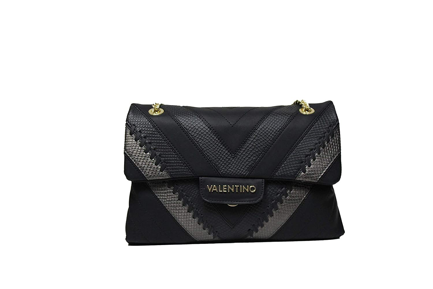 ff21a358d3b Valentino By Mario Valentino Large Twilight Black Textured Cross-Body Bag  Black Leather: Amazon.co.uk: Shoes & Bags