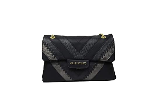 73d8519be8a6 Valentino By Mario Valentino Large Twilight Black Textured Cross-Body Bag  Black Leather  Amazon.co.uk  Shoes   Bags
