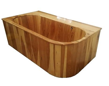 Vasca Da Bagno Ofuro : Drop in ofuro vasca di legno in noce amazon fai da te