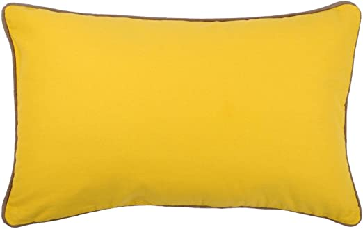 Lovely Casa Duo cojín, algodón, Mostaza/Taupe, 30 x 50 cm: Amazon.es: Hogar