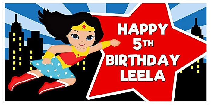 Super Girl Wonder Woman Superhero Light Skin Birthday