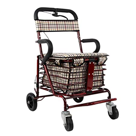Andador con ruedas plegable, asiento, caminantes médicos de ...