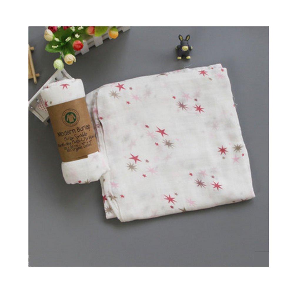NaiseCore - Manta para bebé con Diseño de Estrellas Rosas, 122 x 122 cm, Suave Manta para bebé Recién Nacido, 1 Unidad: Amazon.es: Hogar