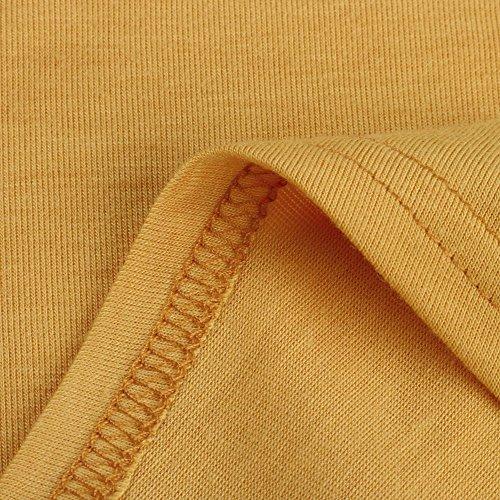 Tank Tops for Women, Kaitobe Womens V-Neck Ruffle Layer Asymmetric Hem Tunic Sleeveless Cami Vest Blouse Tops Yellow by Kaitobe Vest (Image #4)