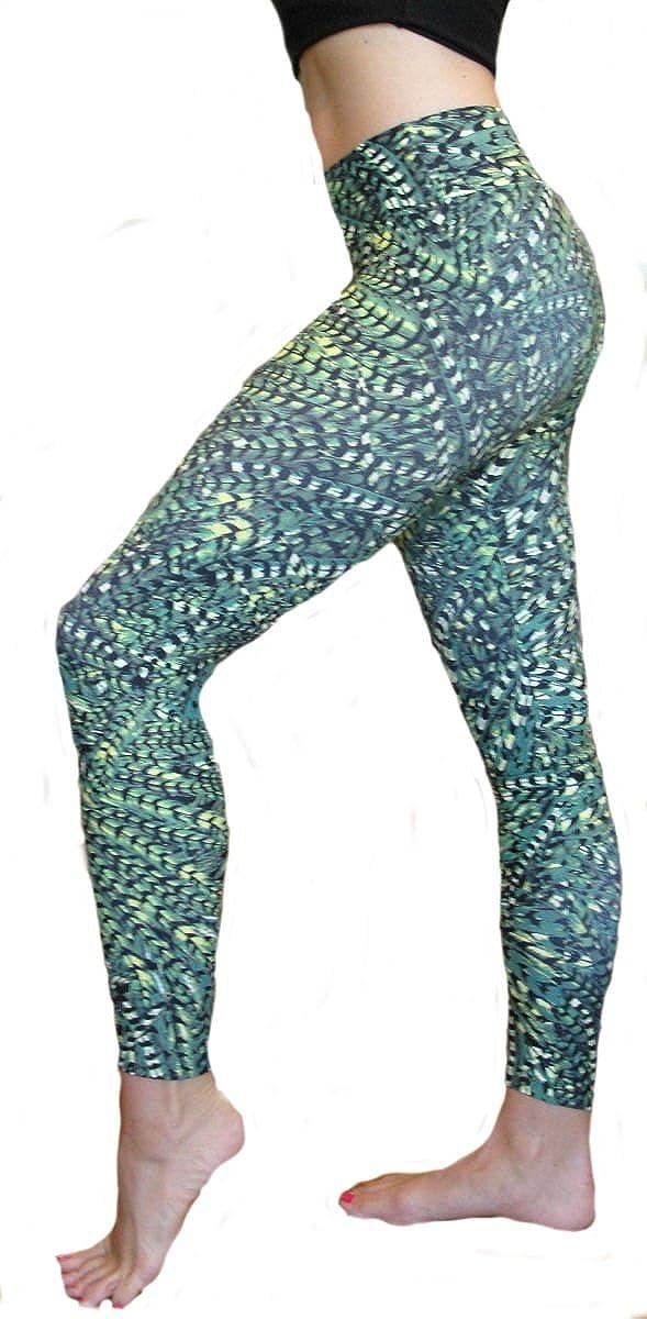 Liquido Legging Peaceful Warrior Pattern At Amazon Women S Clothing Store