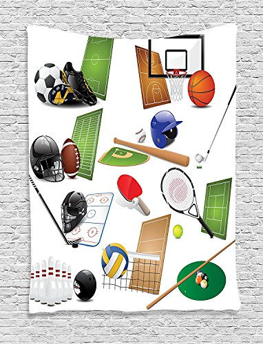 Sports Collection Sport Icons Equipments Hockey Racket Helmet - Wearable Football Helmets