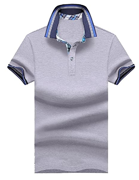 7194c205 Mfasica Mens Western Original Fit Solid Color Knit Cotton Polo Shirt at  Amazon Men's Clothing store: