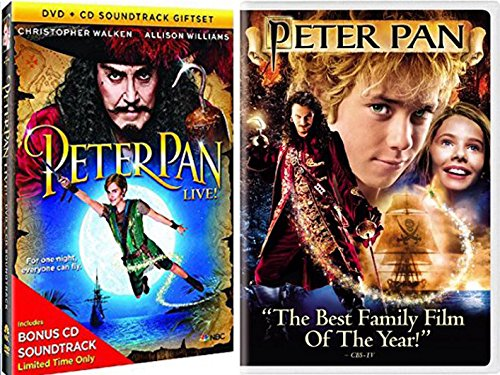 Peter Pan Movie (2004) + Peter Pan Live Special Edition Musical with Bonus Soundtrack Fantasy Movie Bundle DVD set