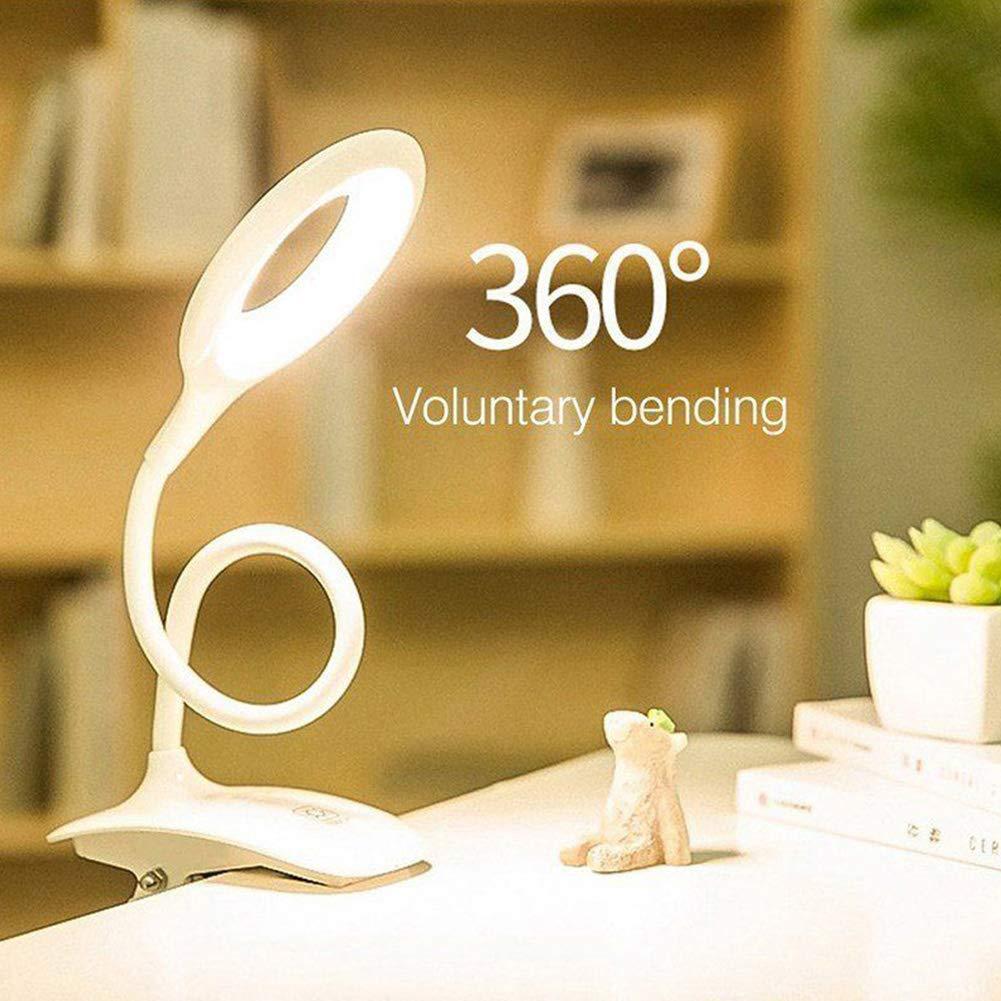 Veronivan Book Lamp Clip Tischlampe Lade Lesetischlampe Wiederaufladbare Nachttischlampe mit Clip