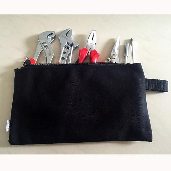 d8b97d6e645c Augbunny 100% Cotton 16oz Heavy Duty Multi-purpose Canvas Zipper Tool Bag  Organize Storage Pouch 4-pack