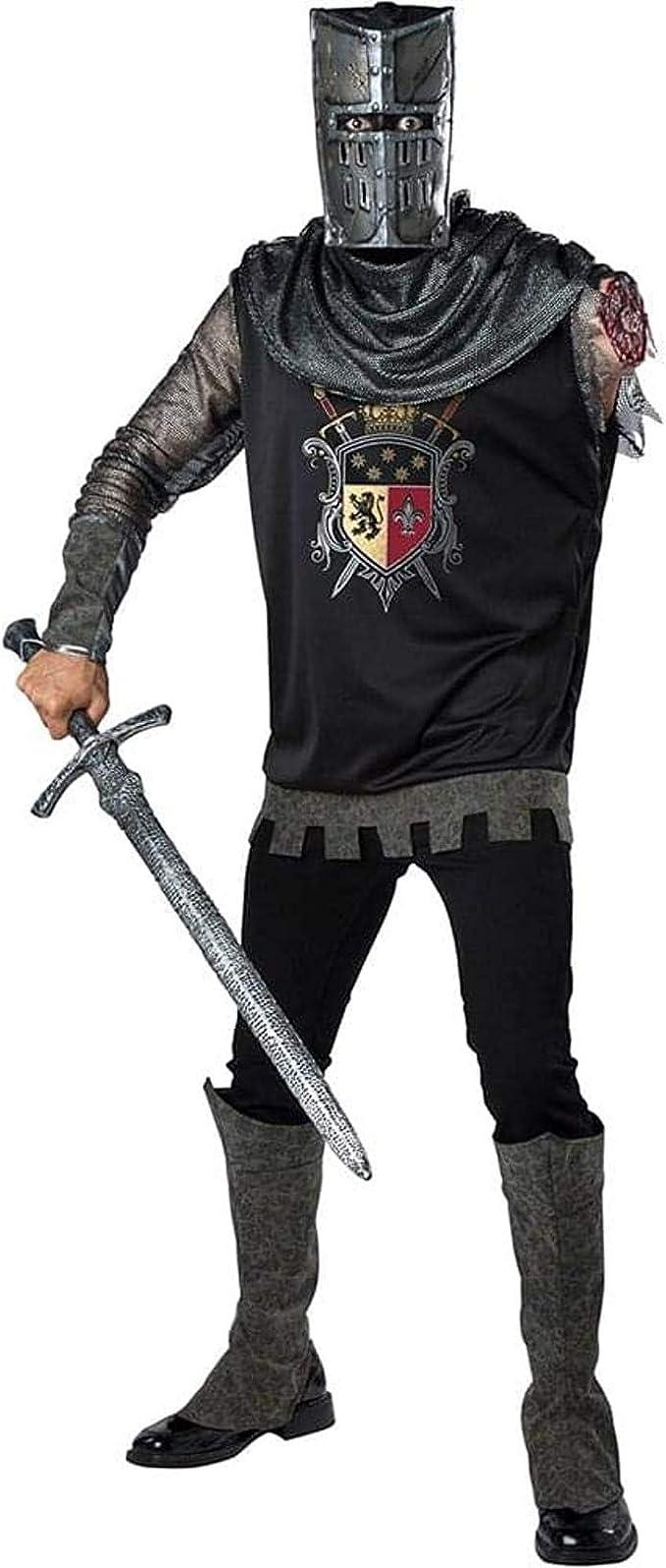 Dark Medieval Knight Adult Men/'s Costume Tunic Halloween Dress Up InCharacter