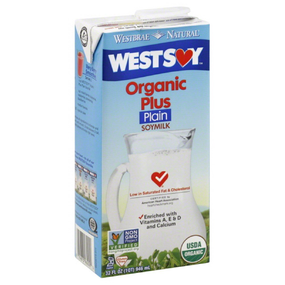 WESTSOY SOYMILK PLUS PLAIN ORG3, 32 FO by Westsoy (Image #1)