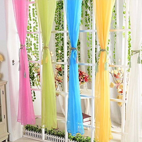 Amazon.com: STPKshop Cor sólida Janela Cortinas Para sala de estar Quarto Cortinas Cortina Da Janela Home Decor Cores Diferentes Availabel P31: Home & ...