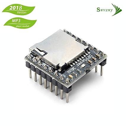 Dfplayer Mini MP3 Player Module for Arduino Voice Module for Arduino DIY  DFPlayer Mini Voice Decode Board Supporting TF Card U-Disk IO/Serial  Port/AD