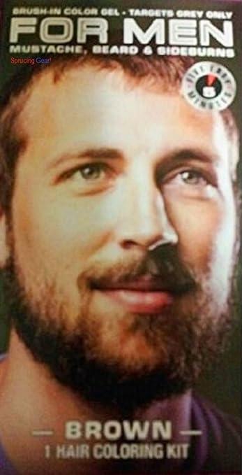 Amazon.com : For Men Mustache, Beard & Sideburns 5 Minute Color ...