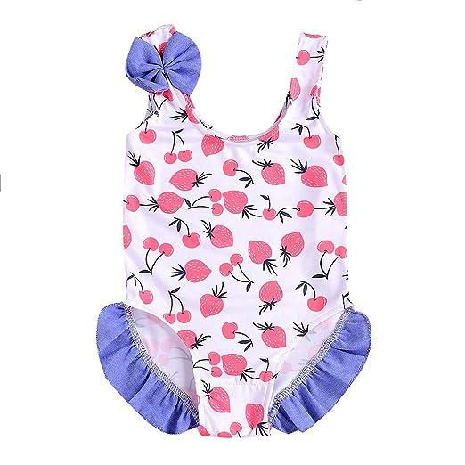 Baiomawzh Bañadores Bebé Niña Traje de baño de una Pieza con ...