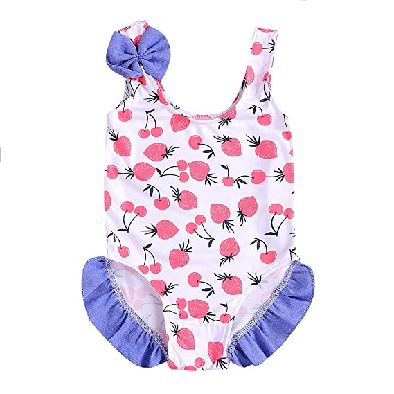USA Toddler Kid Baby Girl One Piece Romper Bikini Swimwear Swimsuit Bathing Suit