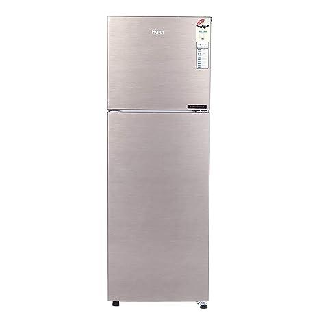 Haier 258 L 3 Star Inverter Frost Free Double Door Refrigerator Hef 25tds Dazzle Steel Convertible Amazon In Home Kitchen