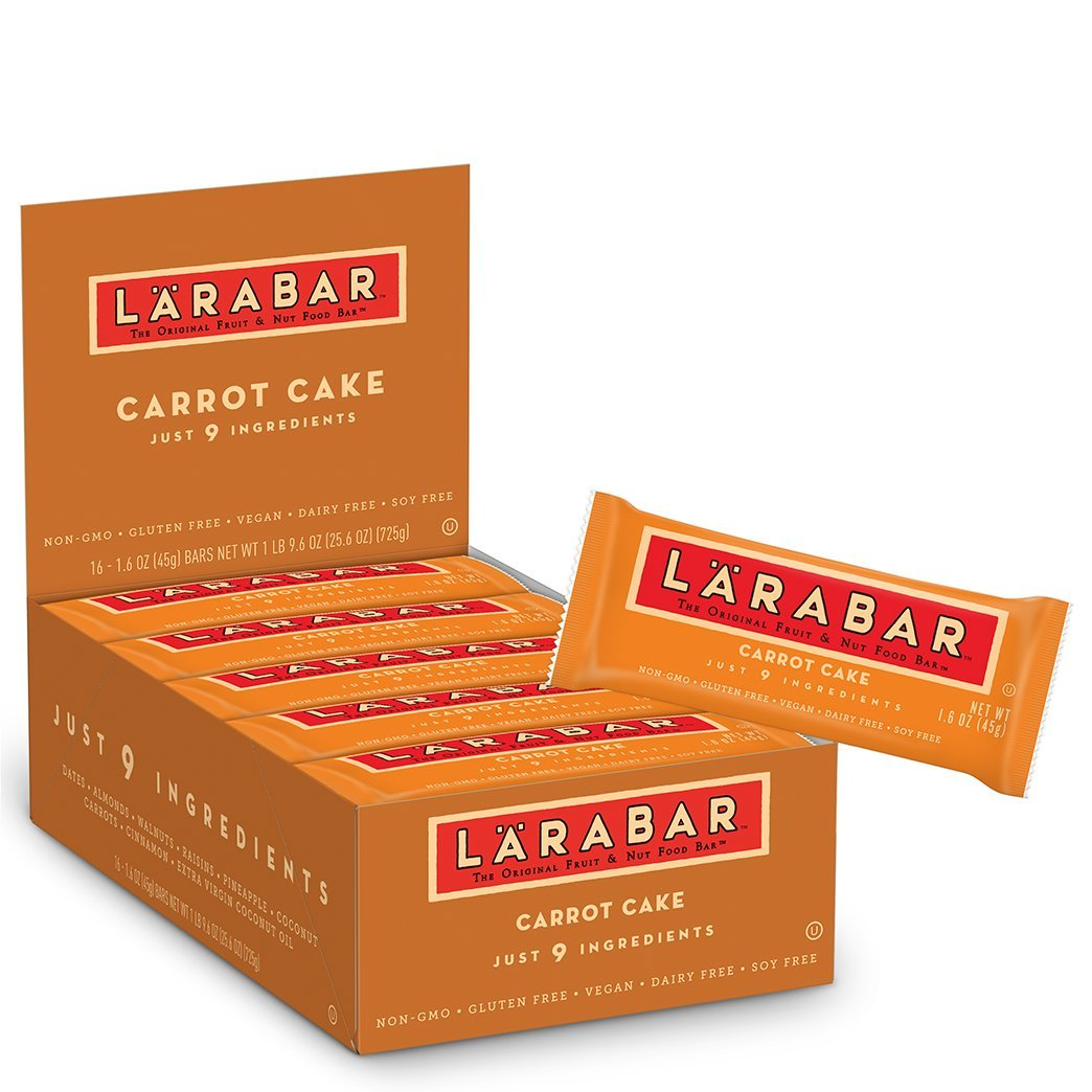 Larabar Gluten Free Bar, Carrot Cake, 1.6 oz Bars (16 Count)