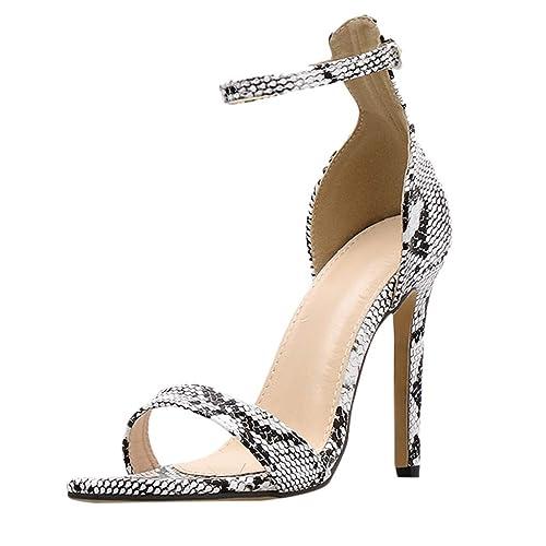 Sandales Des Chaussures Avec Sexy Dame À Serpent Talons Motif FKTlc31J