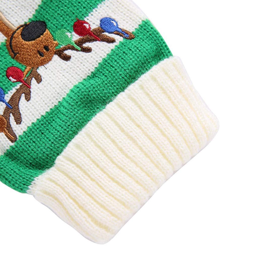 YiiJee Natale Maglieria Maglione per Cane Tempo Libero Animale Domestico Pullover Abbigliamento Verde XS