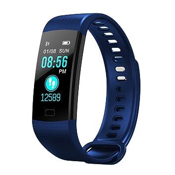 Sanysis Relojes Deportivos, Pulsera Actividad Pulsera Inteligente Impermeable con Monitor de Sueño y Calorías, Podómetro, Pulsera Bluetooth Compatible con ...