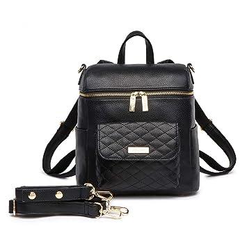 5691f32bad724 Amazon.com : Petit Monaco Diaper Bag Backpack (Ebony Black) : Baby