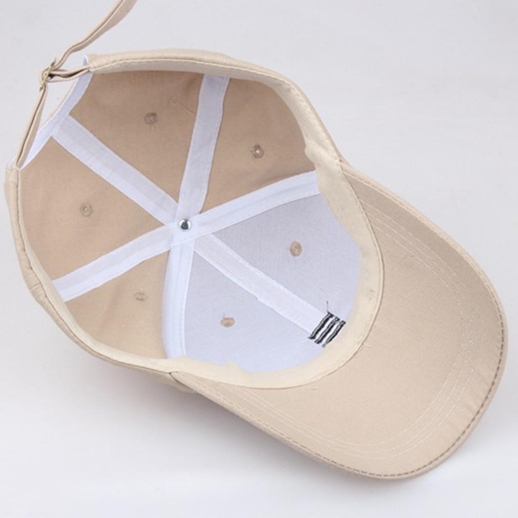 Absolute Gorras ☀ Gorra de béisbol, hombre mujer Sombreros unisex ajustable Hip-Hop Sólido Sombrero para el sol (Beige): Amazon.es: Ropa y accesorios