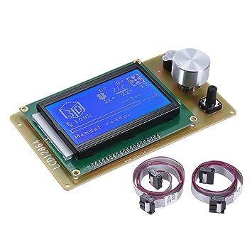 Anet 12864 Lcd Smart Pantalla de Visualización Módulo Controlador con Cable para Ramps 1.4 Arduino Mega Pololu Shield Arduino Reprap Kit Impresora 3D ...