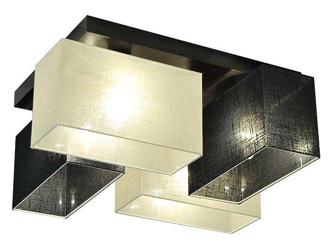 Plafoniere Con Base In Legno : Plafoniera illuminazione a soffitto jls scecd in legno massiccio