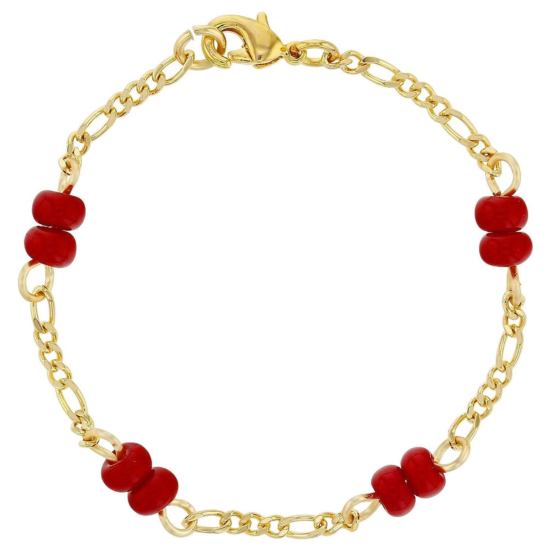 Amazon 18k Gold Plated Red Bracelet for Baby Evil Eye