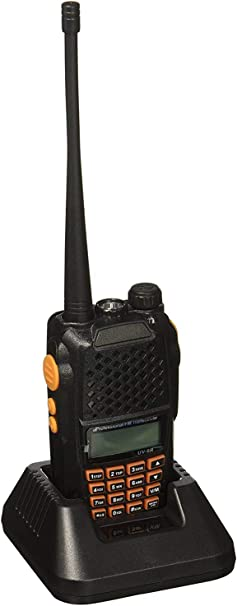 Mengshen® Baofeng UV-6R Walkie Talkie Two Way Radio Dual-Band Transmisor Mejor Que UV-5R VHF UHF FM 136-174/400-520MHz Potencia Alta 5W/1W Up to 128 ...
