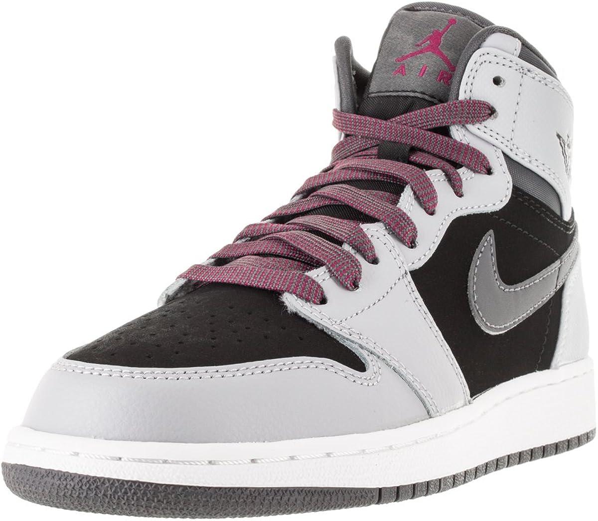 Nike Air Jordan 1 Retro High GG, Zapatillas de Running para Mujer, Gris/Negro (WLF Grey/SPRT FCHS-Blk-Drk Gry), 41 1/2 EU: Amazon.es: Zapatos y complementos