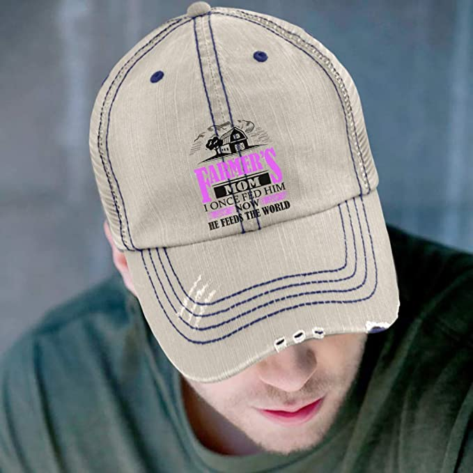 af6f26786 FLOSTORE He Feeds The World Hat, The Farmer's Mom Trucker Cap ...