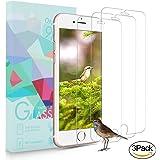 [3-Unidades] Protector de Pantalla iPhone 7 Plus / 6S Plus / 6 Plus, ONSON® Cristal Vidrio Templado Premium Para Apple iPhone 7 Plus / 6S Plus / 6 Plus [9H Dureza][Alta Definicion 0.33mm] [3D Touch Compatibles].