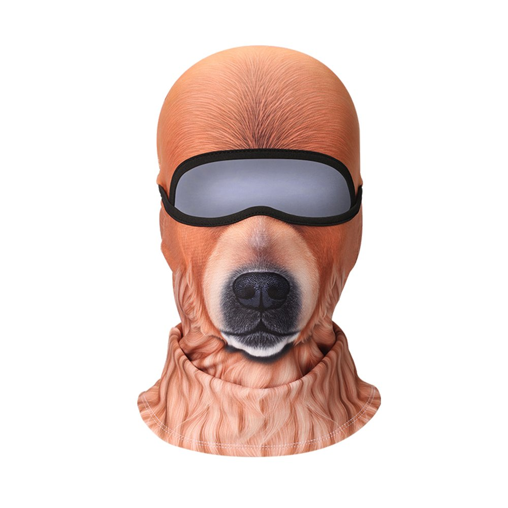 SUPOW Ski Mask Full Face Cover Mask 3D Animal Pattern Balaclava Mask