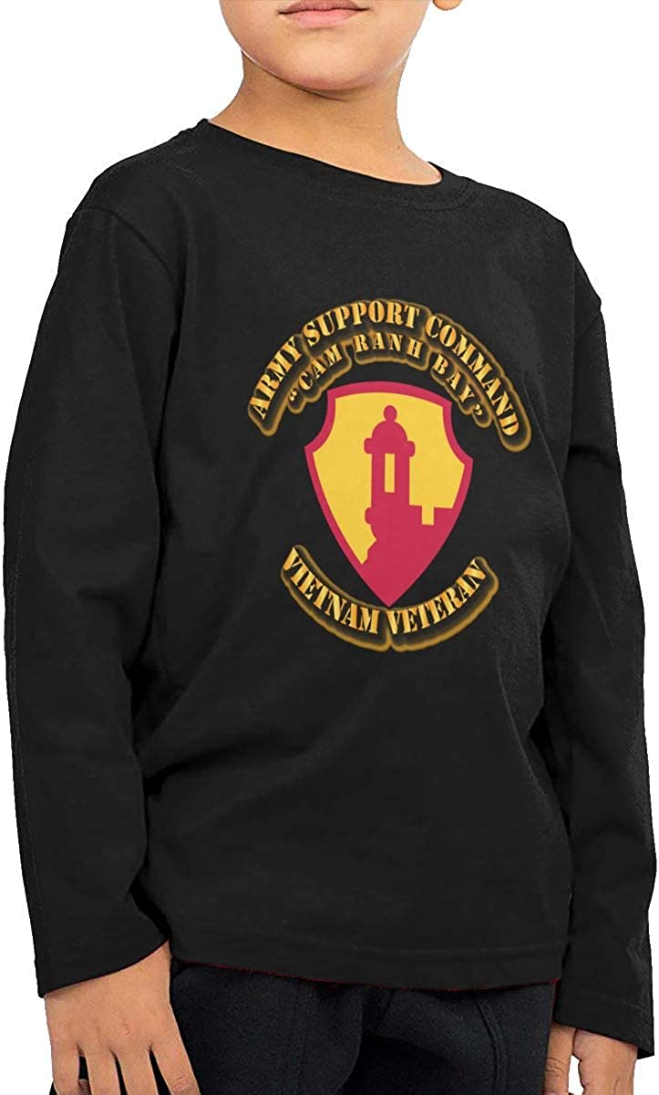 Army Support Commandcam Childrens Long Sleeve T-Shirt Boys Cotton Tee Tops