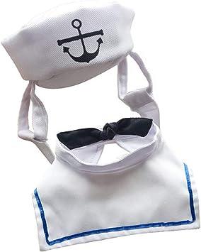 fghfhfgjdfj Mascota Perro Gato Marinero Ropa Corbata Sombrero ...